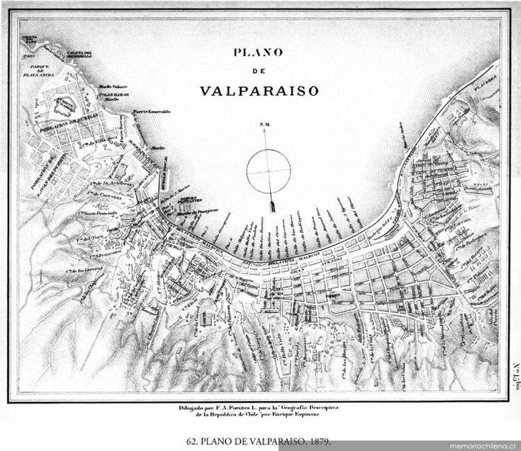 Plano de Valparaíso, 1879
