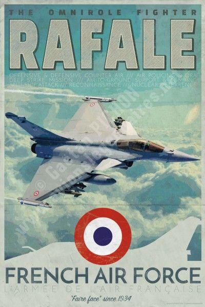 poster-affiche-dassault-rafale-armee-air-copyright-Pichon