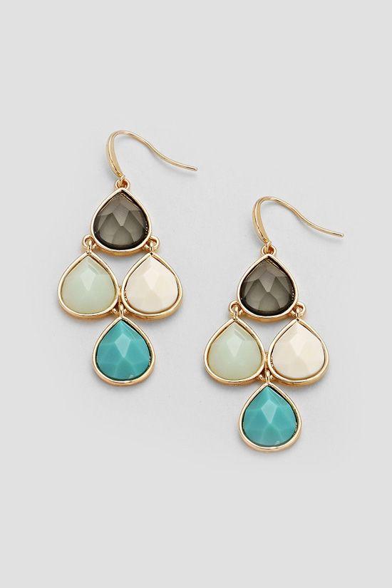 Juniper Chandelier Earrings in Turquoise