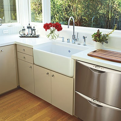 Double Dishwasher -- the space of a full dishwasher but less water and half the energy. Plus you dont have to wait for it to fill up!