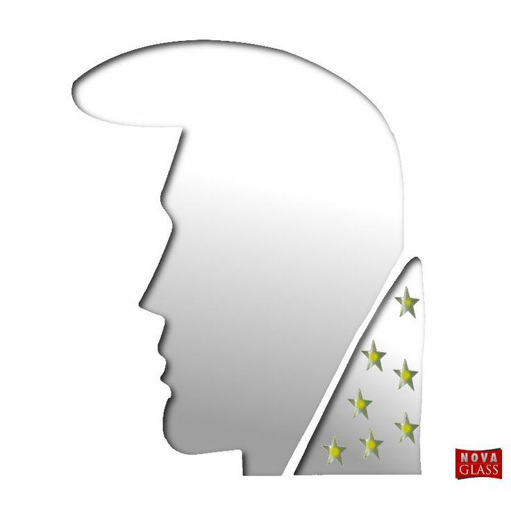 Καθρέπτης τοίχου Elvis με χρυσά αστεράκια Νο 081