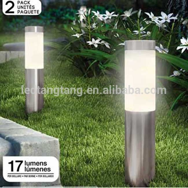 Stainless steel LED Solar Bollard Garden Light high lumen LED outdoor stake light LED Solar Lawn Light