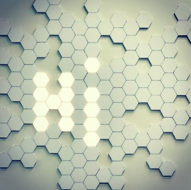 Modular Touch Sensitive Lighting Helios Touch Is A Modular Touch Sensitive Wall Light Create Any Structure To Suit Yo Lighting Magnetic Tiles Hexagon Tiles