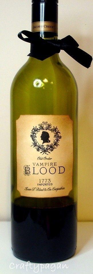 Vampire blood wine labels :)
