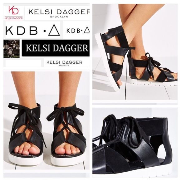 Kelsi Dagger Dance Modern strappy sandals from Kelsi Dagger Brooklyn with sleek leather uppers and adjustable cotton laces for a secure fit. Finished with a cushioned leather footbed for optimal comfort and a textured contrast sole for superior traction. Soul Out with this size at the website   Content + Care - Leather - Spot clean - Imported Urban Outfitters Shoes Sandals