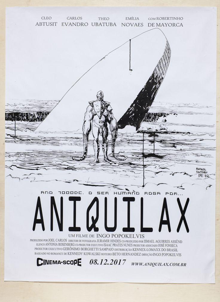 """Rafael Coutinho + Diego Gerlach - """"Aniquilax"""" Impressão em Offset + Caneta Nanquim (92 x 129 cm), Offset 90g"""