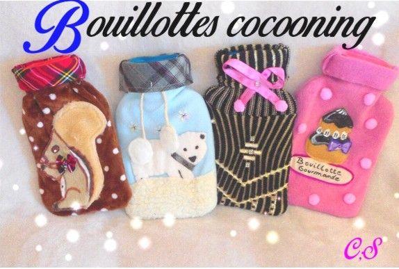 #bouillottes eau #originales trés cocooning et artisanales avec housse pull et polaire pour femme et enfant! http://meilleurs-createurs.blogspot.fr/2016/09/bouillotte-originale-avec-housse-pull_19.html