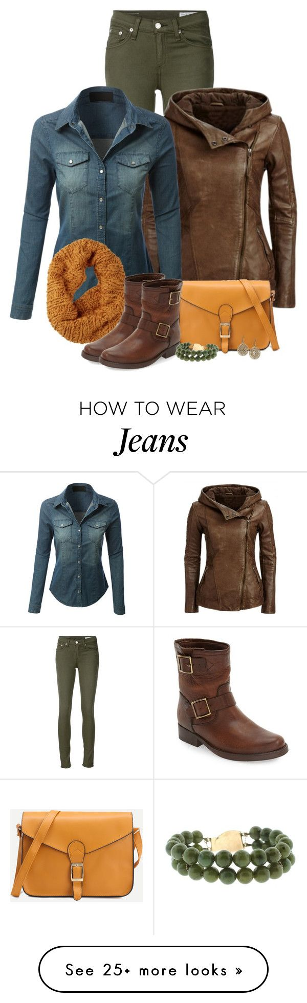 """""""Untitled #61"""" by jennsprettylittlefriend on Polyvore featuring rag & bone/JEAN, LE3NO, Burton, Frye and Lucky Brand"""