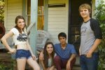 (Left to right) Violett Beane as Bethany, Kaylee King as Chrissie, Noe de la Garza as Hector, and Dalton Gray as River Crane.