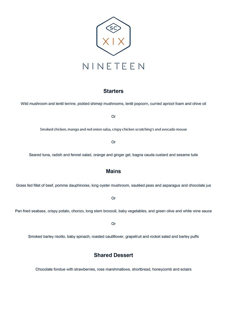 Valentine's Day is right around the corner — why don't you do something different this year?   Bookings open for Valentines Day lunch or dinner at Nineteen, Sunday, 14 February 2016.   Spoil your loved one with a Valentines voucher or spend this special day with your sweetheart enjoying a delicious, romantic meal.   Book your table now, call 010 597 1019 or email reservations@nineteensc.co.za for more information.