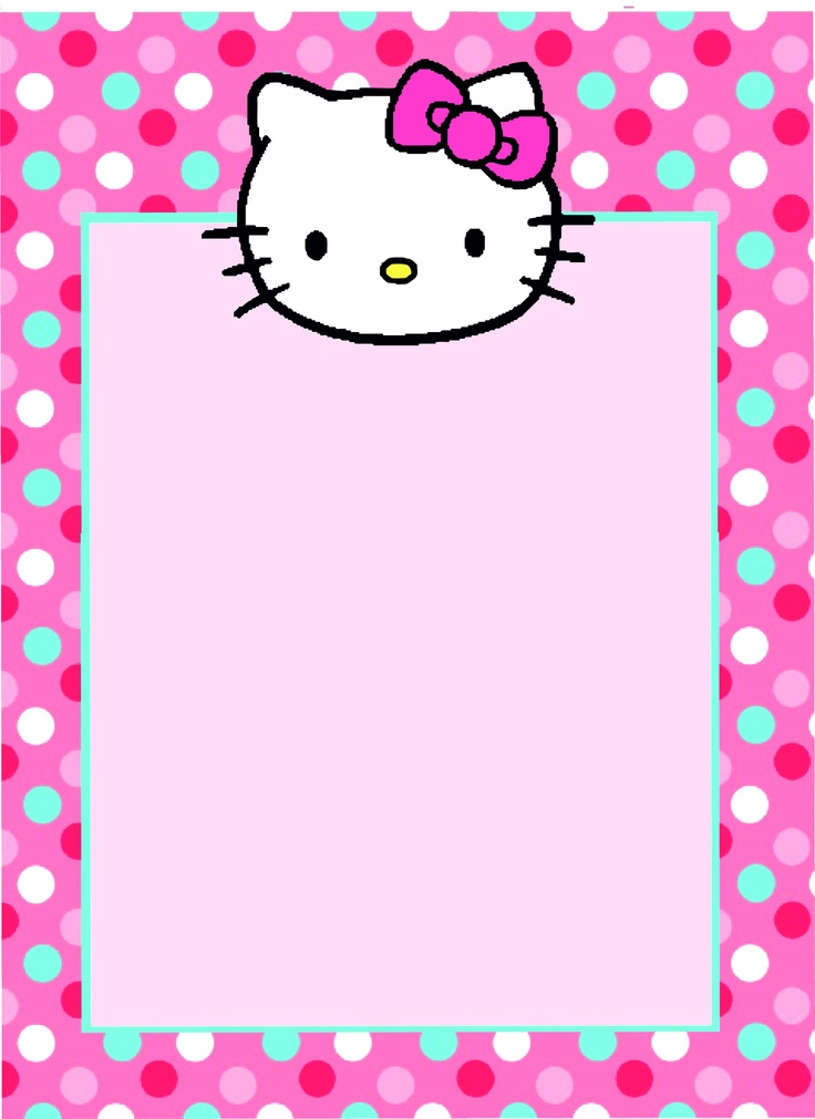 hello kitty invitation templates
