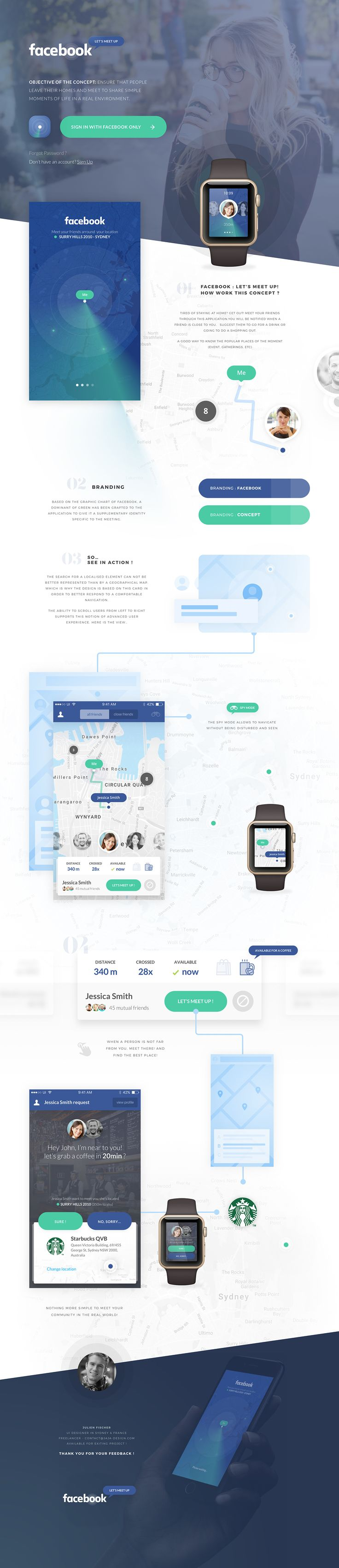 """Proud to introduce my new concept: """"Facebook, let's meet up!"""", which will take you out of your home!Objective of the concept:Ensure that people leave their homes and meet to share simple moments of life in a real environment.Facebook : let's meet up!…"""