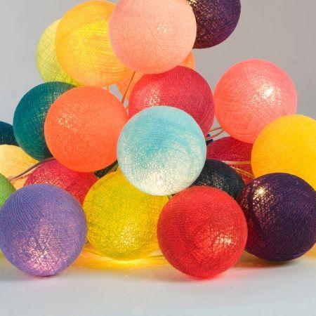 Ghirlanda luminosa con 20 sfere colorate
