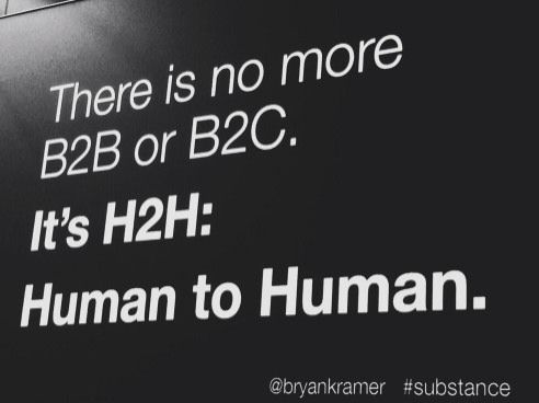 There is no more B2B or B2C: It's Human to Human, #H2H http://www.bryankramer.com/there-is-no-more-b2b-or-b2c-its-human-to-human-h2h/