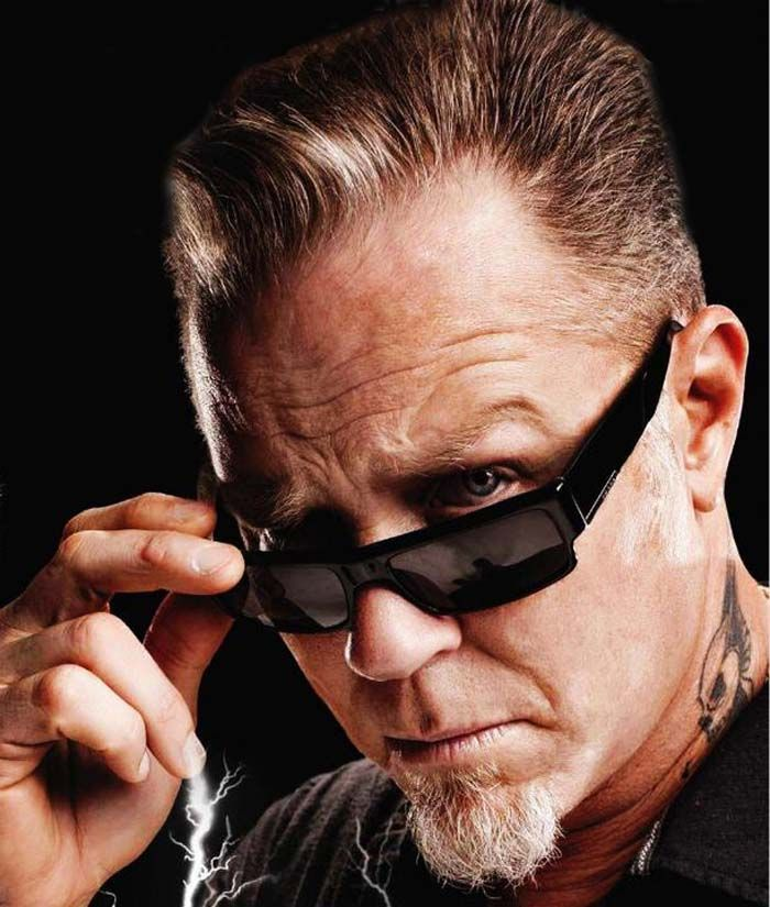 James Hetfield.... check his current handsomeness in this closeup. He always looks good :)