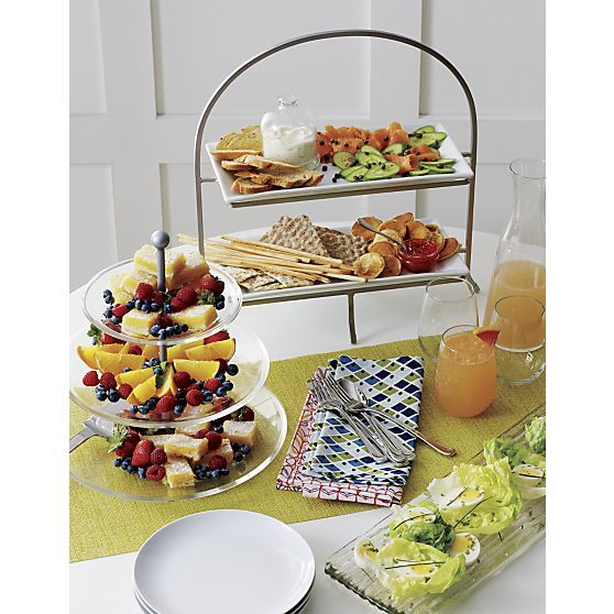 Cambridge 2-Tier Server with Plates | Crate and Barrel