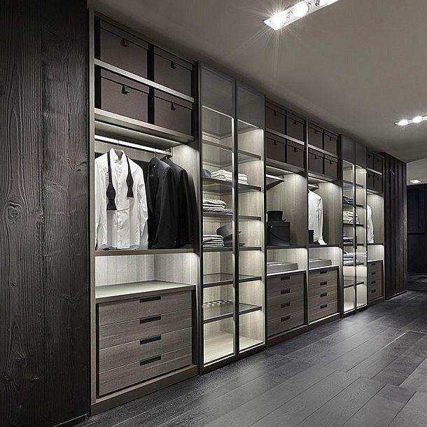 Masculine Closets & Dressing Room Ideas