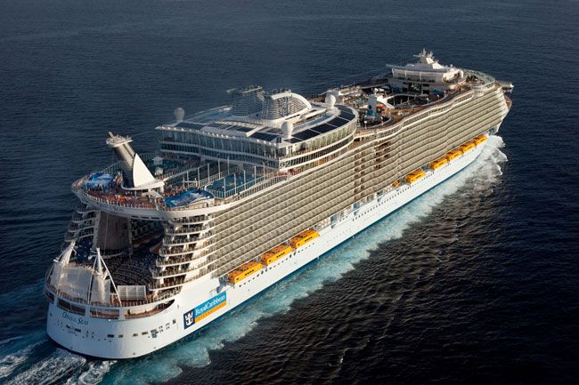 Oasis of the Seas. Saw this ship in the Bahamas while on another Royal Carribean ship, needless to say I was jealous!