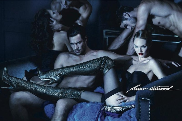 Candice Swanepoel & Chad White for Brian Atwood - Campaign FallWinter 2012 Photographed by Mert Alas & Marcus Piggott Creative Direction by Giovanni Bianco