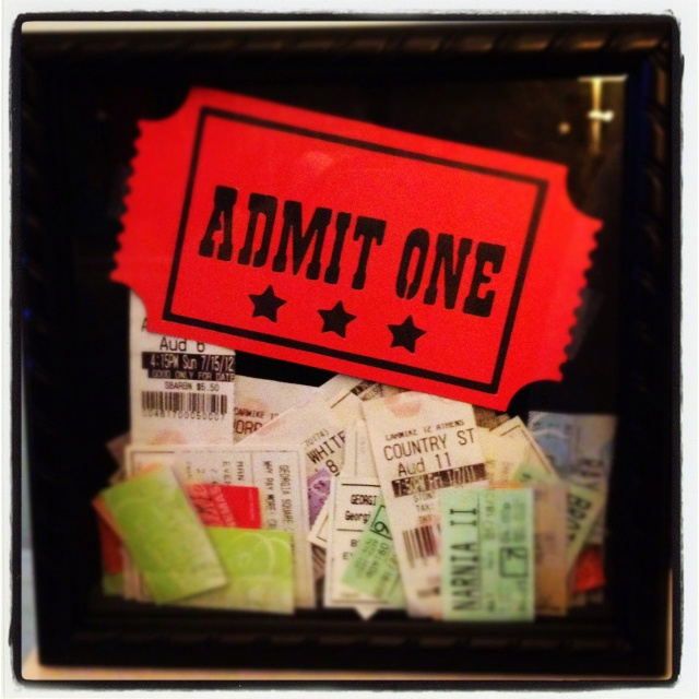 The 25+ best Ticket shadow boxes ideas on Pinterest Movie ticket - create your own movie ticket