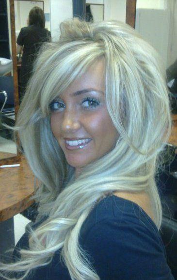Love this hair ..bleach blonde with ash lowlights