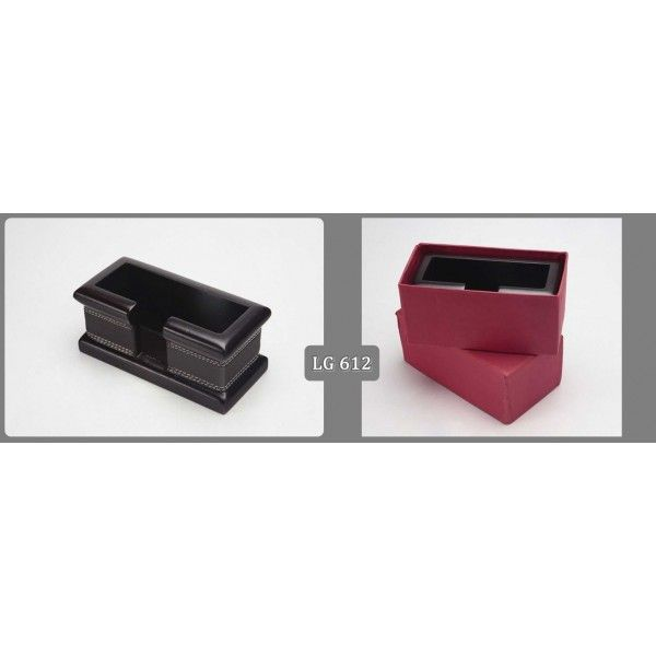 Black Leather Table Holder Premium Table Holder With Logo Printing. #holders