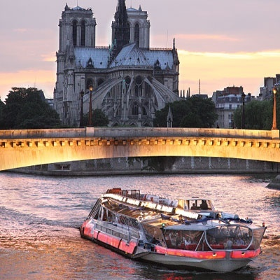 Paris: Bateaux Mouches - had a lovely lunch, with wine of course, on the bateau while cruising down the Seine. Gotta love Paris!