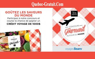 Certificat voyage de Voyages Sears Repentigny de 1000 $ | Québec Gratuit