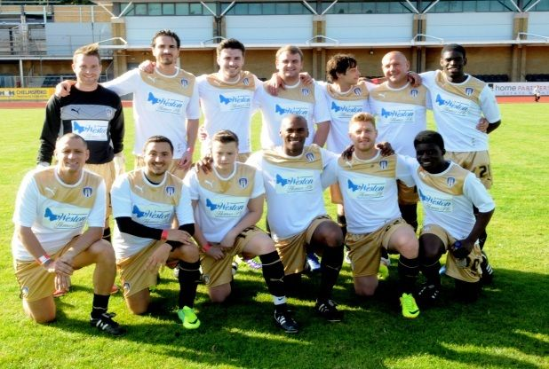 Hollyoaks, EastEnders and TOWIE stars take part in charity football match at Chelmsford City FC | Essex Chronicle Chelmsford