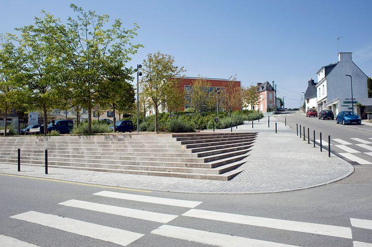 Inzinac Town Centre by Urbicus 07 | Landezine Feathered steps