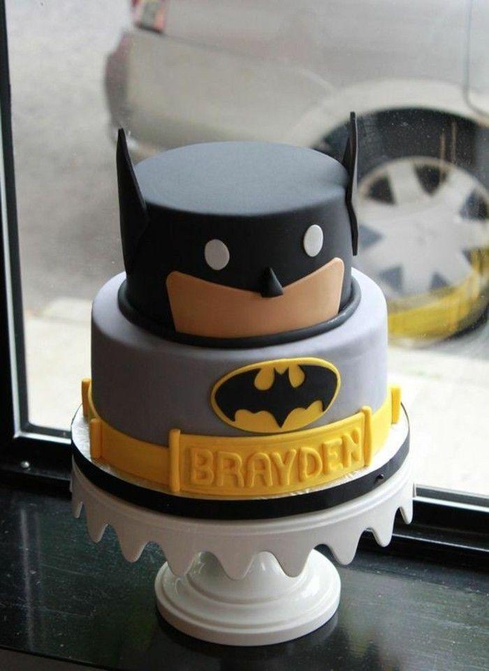 Torten-bis-18-Geburtstag Geburtstagstorten Batman Tortenmotiv Torten-Superheld   – Torten Ideen und Rezepte
