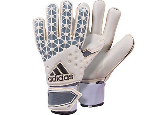 adidas ACE Pro Classic Goalkeeper Gloves - White and Grey | SoccerMaster.com