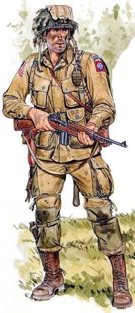 EUA - 82nd Airborne Division, Normandy 1944-pin by Paolo Marzioli
