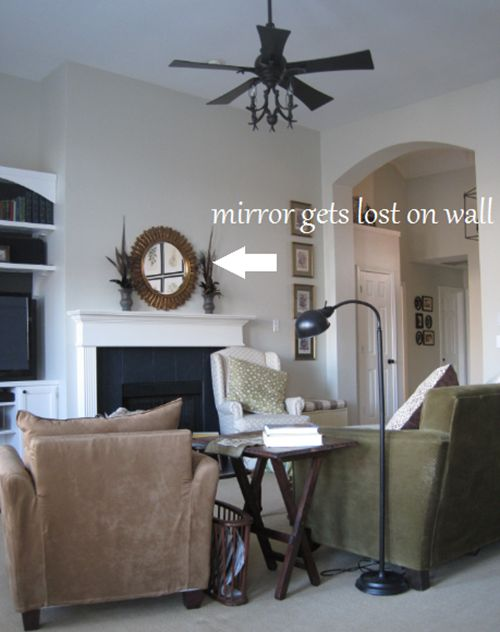 """At first, having tall ceilings may not seem like a problem you have to """"work with."""" But, things can get tricky when it comes to hanging the right pieces on the walls. One of my readers emailed me who was having problems decorating her own tall ceilings: """"I have 14 or 15 ft tall ceilings, …"""