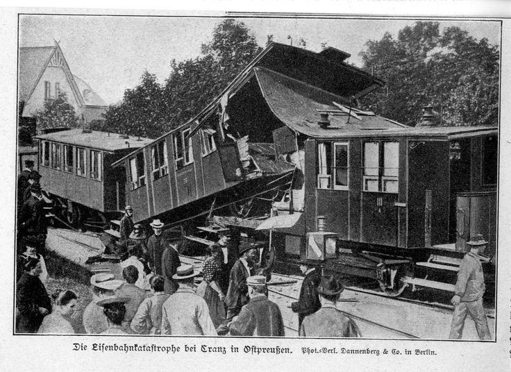 Die Eisenbahnkatastrophe bei Cranz in Ostpreußen Historische Memorabilie v.1906