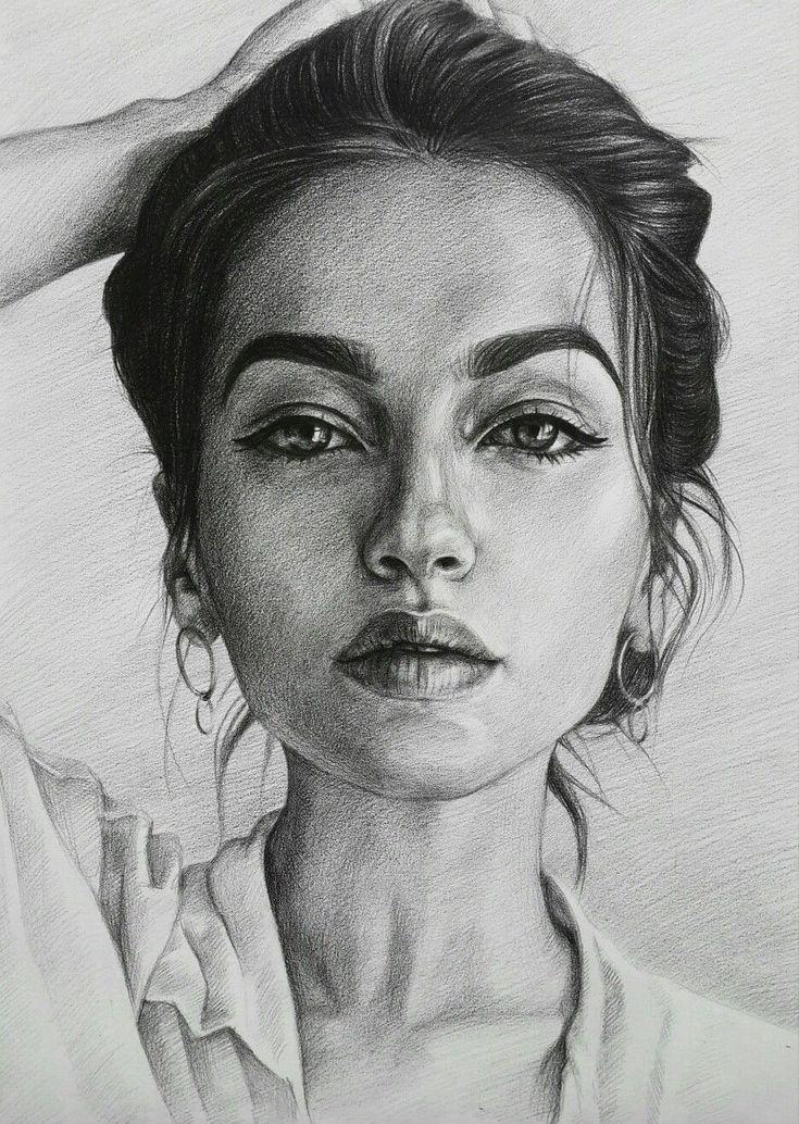 Картинка карандашом лицо