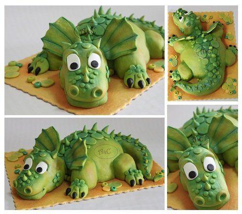 Young Dragon - by Com Amor & Carinho @ CakesDecor.com - cake decorating website