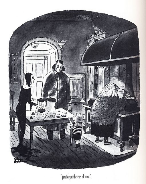 """""""You forgot the eye of newt."""" The Addams Family, by Charles Addams"""