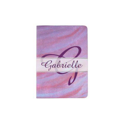 Adaptable Travel | Custom Chic Pink Purple Zebra | Passport Holder - girly gifts special unique gift idea custom