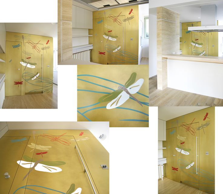 Original art mural - wall design for modern living space. Created by Lucie Jirku (Studio CODECO).