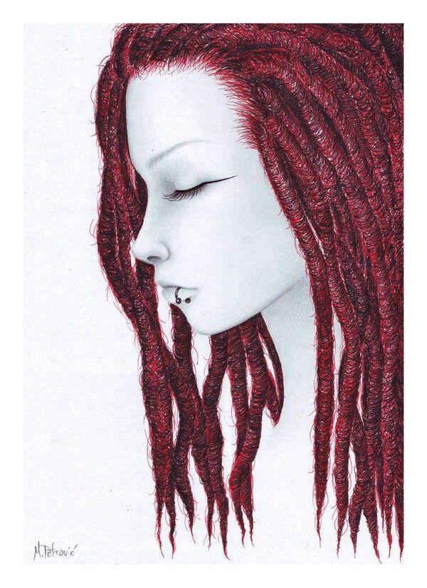 Рисунок с дредами