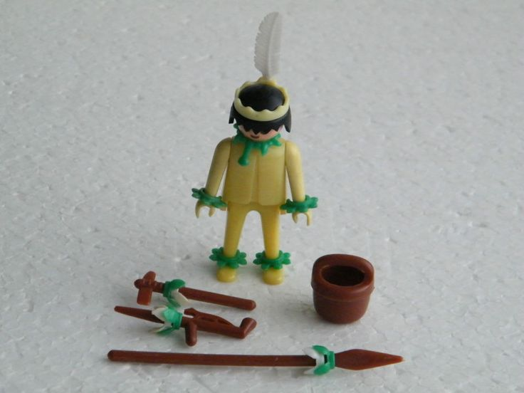Playmobil 3128 Old klicky Yellow Pastel with B feet Indian 2