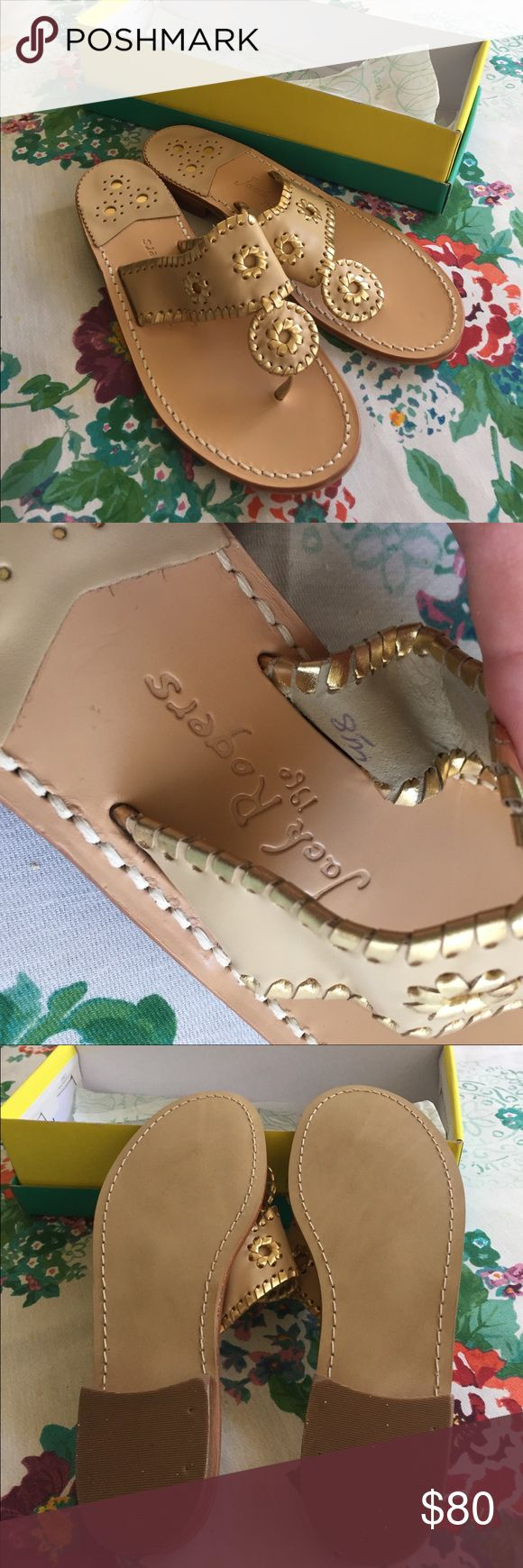 Brand New Jack Rogers Nantucket Sandals These are brand new Jack Rogers Nantucket Sandals in camel and gold color. Jack Rogers Shoes Sandals