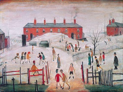 """The Schoolyard"". L. S. Lowry"