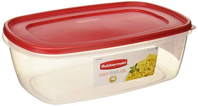 Rubbermaid 6640210 711717439723 Plastic Easy Find Lid Food Storage Container Bpa Free Plastic Container Storage Food Storage Containers Airtight Food Storage