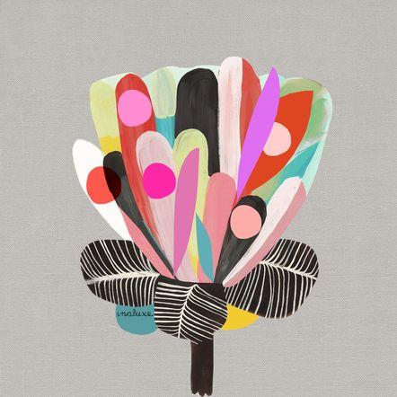 Blumen und Vögel gehören zu den bevorzugten Motiven des australischen Illustratorenduos Inaluxe