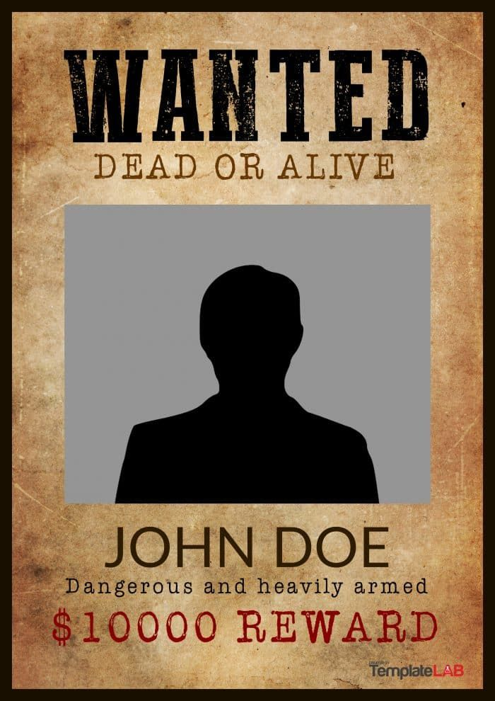 29 Free Wanted Poster Templates Fbi And Old West Poster