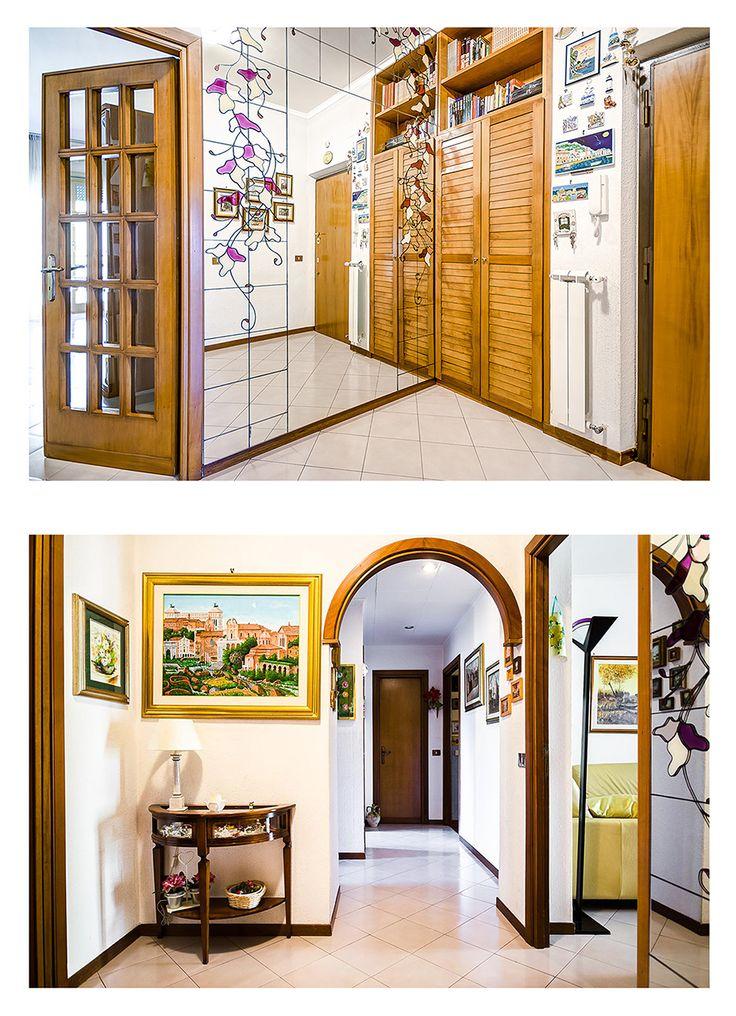Reale Estate Photography Rome   Hallway,    #realestate #photography #rome #italy #city #hallway #house #door #mirror