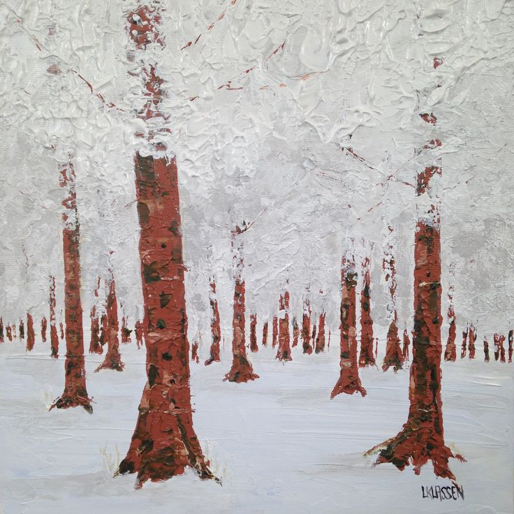 Canopy, Acrylic on canvas,10 x 10 inches