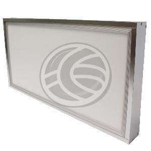 Kit de montaje kubik para panel LED. Se trata de un perfil de aluminio plateado que permite fijar el panel LED al techo, quedando una instal...